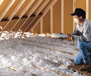 Adding insulation to attic, Laval