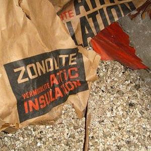 Vermiculite insulation with asbestos