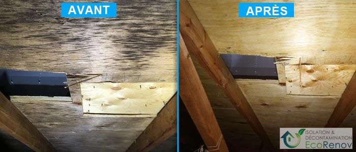 Décontamination de moisissures, Terrebonne (avant/après #9)