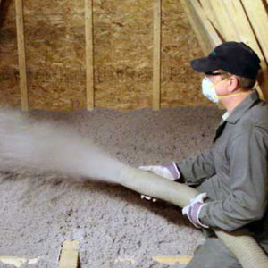 Isolation de grenier avec cellulose giclée, Longueuil