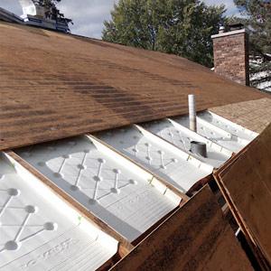 Projet de ventilation des soffites bloqués