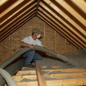 Isolation de toiture, Cellulose
